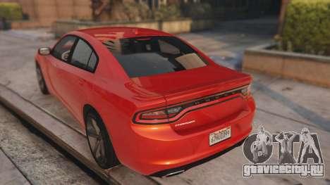 Dodge Charger Hellcat для GTA 5 вид сзади слева