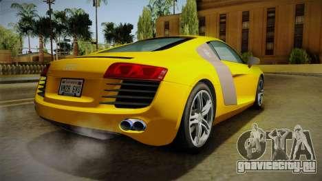 Audi R8 Coupe 4.2 FSI quattro EU-Spec 2008 Dirt для GTA San Andreas вид слева