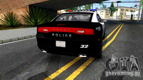 Dodge Charger Rittman Ohio Police 2013 для GTA San Andreas вид сзади слева