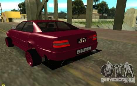 Toyota Chaser Sport для GTA San Andreas вид сзади слева