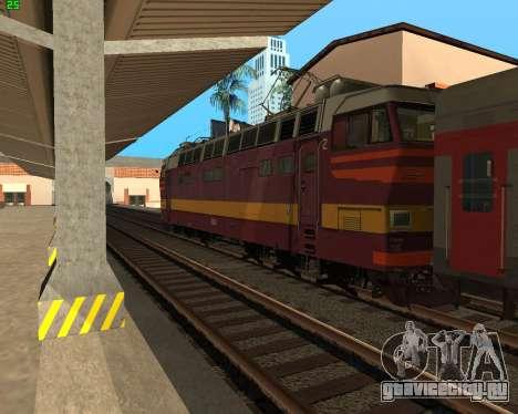 Пассажирский локомотив ЧС4т-521 для GTA San Andreas вид сбоку