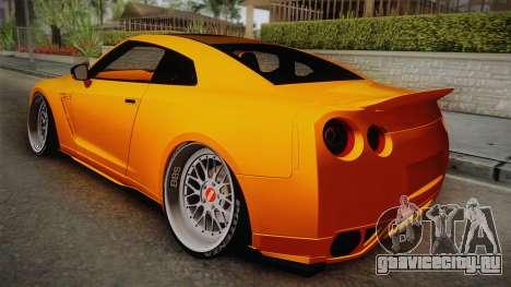Nissan GT-R R35 2015 для GTA San Andreas вид слева