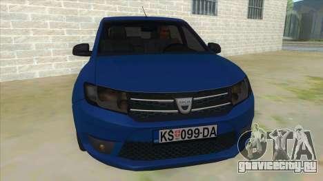 2016 Dacia Sandero для GTA San Andreas вид сзади