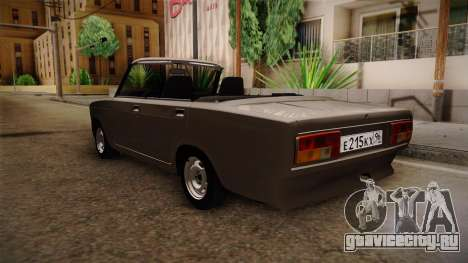 ВАЗ 2105 Кабриолет для GTA San Andreas вид сзади слева