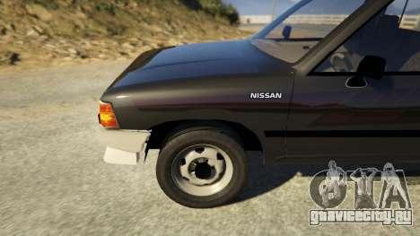 Nissan Datsun 1985 для GTA 5 вид сзади справа