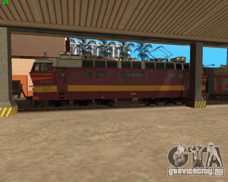 Пассажирский локомотив ЧС4т-521 для GTA San Andreas вид сверху