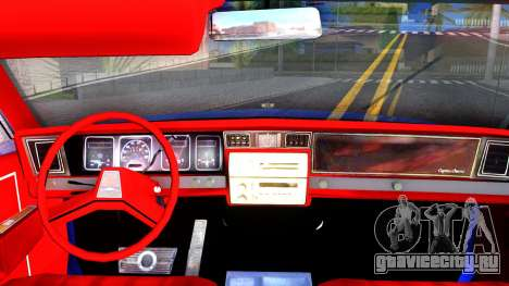 Chevrolet Caprice 1987 Tuning для GTA San Andreas вид изнутри