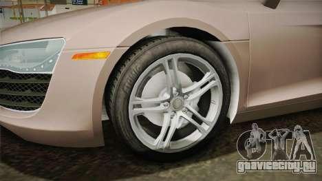 Audi R8 Coupe 4.2 FSI quattro US-Spec v1.0.0 v4 для GTA San Andreas вид сзади