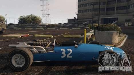 Cooper F12 1967 v2 для GTA 5 вид слева
