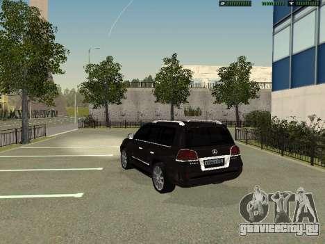 Lexus LX 570 2011 для GTA San Andreas вид слева