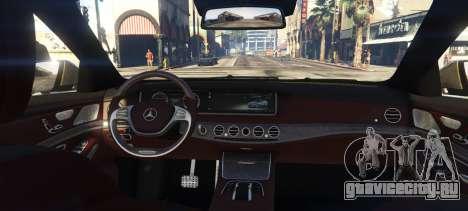 Mercedes-Benz S65 W222 для GTA 5 вид сзади слева