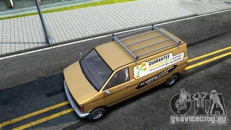GTA V Declasse Burrito Commercial для GTA San Andreas вид сзади