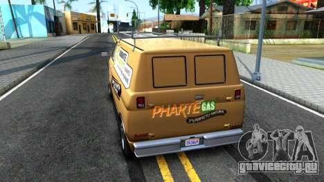 GTA V Declasse Burrito Commercial для GTA San Andreas вид сзади слева