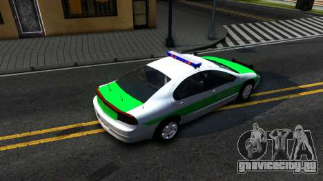 Dodge Intrepid German Police 2003 для GTA San Andreas вид сзади