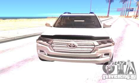 Toyota Land Cruiser 200 2016 для GTA San Andreas вид сзади