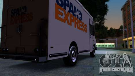 GTA IV Brute Boxville with SpandEx livery для GTA San Andreas вид сзади