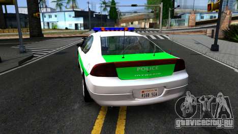 Dodge Intrepid German Police 2003 для GTA San Andreas вид сзади слева