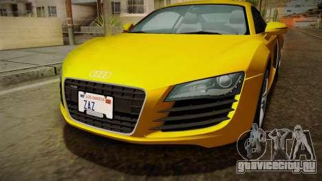 Audi R8 Coupe 4.2 FSI quattro EU-Spec 2008 Dirt для GTA San Andreas вид сбоку