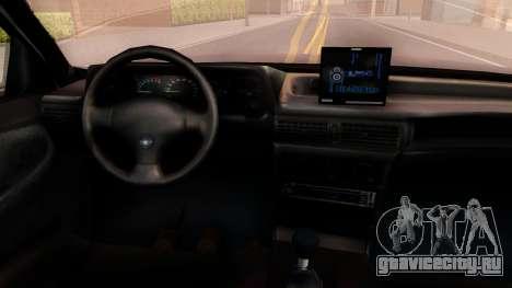 Daewoo Cielo 2001 для GTA San Andreas вид изнутри
