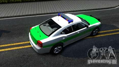 Dodge Charger German Police 2008 для GTA San Andreas вид сзади