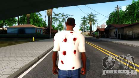 White I am Fine T-Shirt для GTA San Andreas третий скриншот
