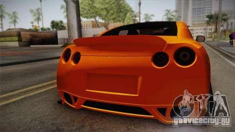 Nissan GT-R R35 2015 для GTA San Andreas вид сзади