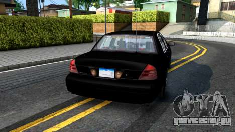 Ford Crown Victoria OHSP Unmarked 2010 для GTA San Andreas вид слева