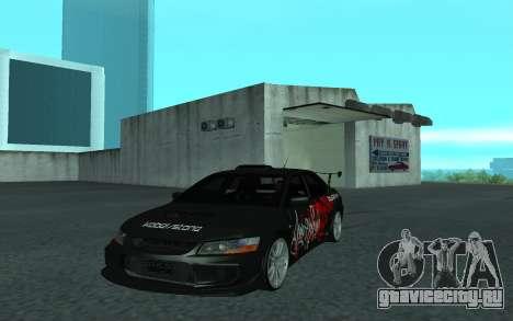 Mitsubishi Lancer Evolution VII для GTA San Andreas вид сзади