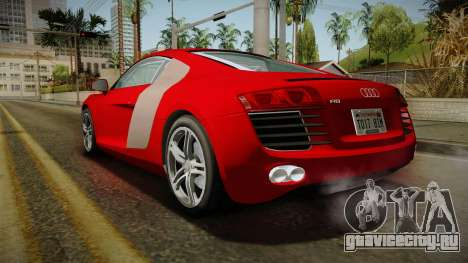 Audi R8 Coupe 4.2 FSI quattro EU-Spec 2008 YCH2 для GTA San Andreas вид слева
