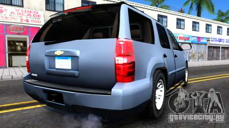 Chevy Tahoe Metro Police Unmarked 2012 для GTA San Andreas вид справа