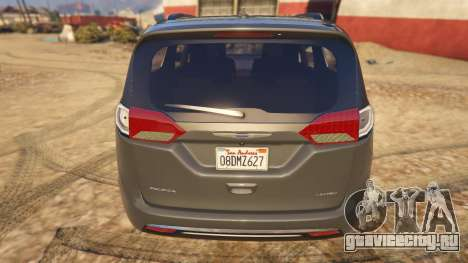 Chrysler Pacifica Limited 2017 для GTA 5 вид сзади