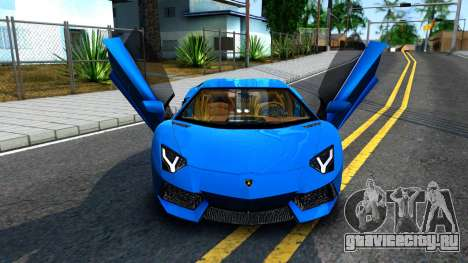 Lamborghini Aventador LP700-4 Light Tune для GTA San Andreas вид сзади