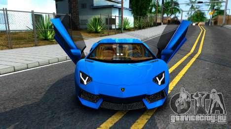 Lamborghini Aventador LP700-4 Light Tune для GTA San Andreas вид сзади