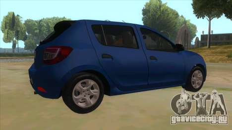 2016 Dacia Sandero для GTA San Andreas вид справа