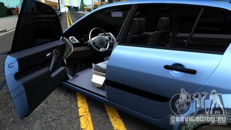 Renault Megane Sedan для GTA San Andreas вид сзади