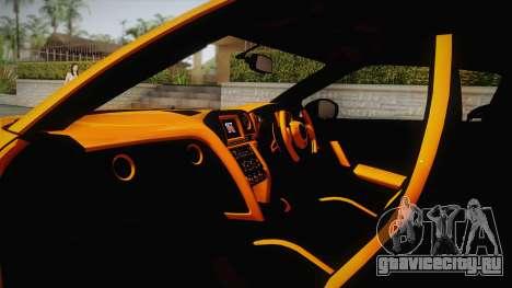 Nissan GT-R R35 2015 для GTA San Andreas вид изнутри