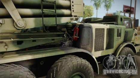 БМ-27 Ураган (9П140) для GTA San Andreas