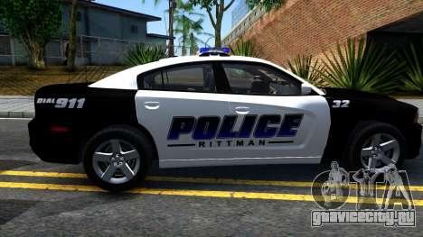Dodge Charger Rittman Ohio Police 2013 для GTA San Andreas вид слева