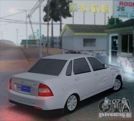 ВАЗ 2170 Приорик для GTA San Andreas вид сзади слева