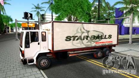 DFT-30 Box Truck для GTA San Andreas вид изнутри