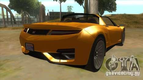 GTA V Dynka Jester Spider для GTA San Andreas вид справа
