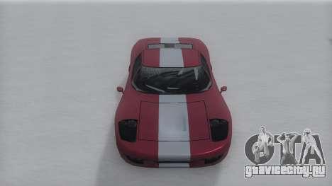 Bullet Winter IVF для GTA San Andreas вид сзади слева