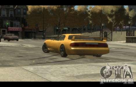 ZR 350 GTA San Andreas v1.0 для GTA 4 вид сзади слева