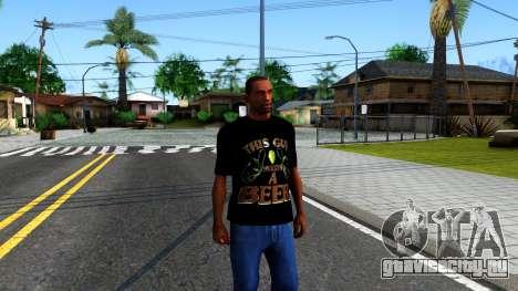Black Beer T-Shirt для GTA San Andreas второй скриншот