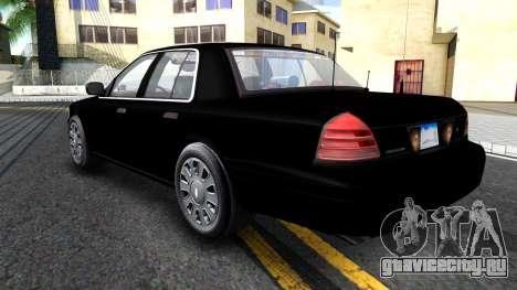 Ford Crown Victoria OHSP Unmarked 2010 для GTA San Andreas вид сзади