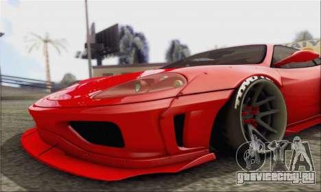 Ferrari 360 LB Work для GTA San Andreas вид сзади слева