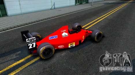 Ferrari 640 F1 1989 для GTA San Andreas вид сзади слева