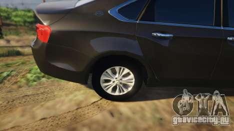 Chevrolet Impala 2015 для GTA 5 вид справа