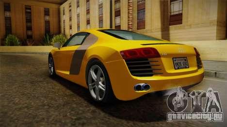 Audi R8 Coupe 4.2 FSI quattro EU-Spec 2008 Dirt для GTA San Andreas вид справа
