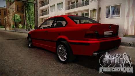 BMW 328i E36 Coupe для GTA San Andreas вид сзади слева